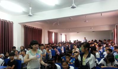 南昌县红十字会开展安全自护知识进校园知识讲座